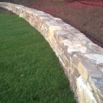 professional stone wall project